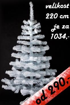 umělý vánoční stromek  Bílý smrček