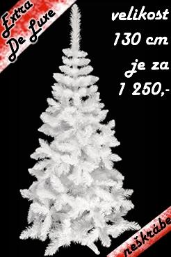 umělý stromeček jedle extra De Lux bílá
