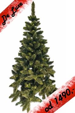 umělý stromeček Jedle de LUX zelená
