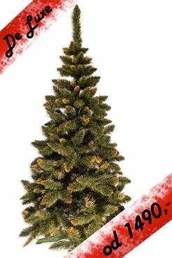 umělý stromeček Jedle de LUX zlatá